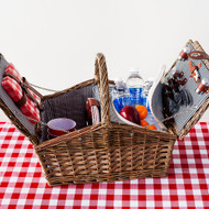 Willow Picnic Basket with Cooler