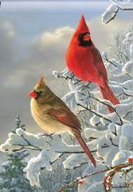 Studio M Winter Cardinals Garden Flag