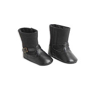 Infant Girls Black Boots (6-12 months)