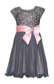 Girls Bonnie Jean Julie Sequin Lace Dress