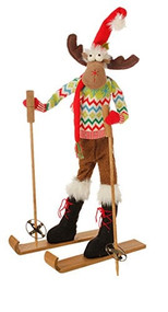 "29"" Posable Skiing Moose"