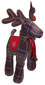 Brown Plaid Reindeer