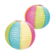 Beach Ball Paper Lanterns - Set of 2