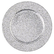 Silver Glitter Plate Chargers - Set of 4