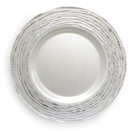 Silver Glass Plate Chargers - Set of 4