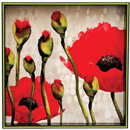 "Rock Paper Flower Poppies 15"" Square Tray"