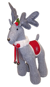 Gray Tweed Reindeer