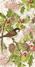 Holiday Chickadee Hostess Napkins