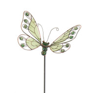 27-1/2 Inch Butterfly Green Glow in the Dark Garden Stake