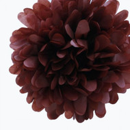 "Chocolate Brown 14"" Party Tissue Pom Pom, Set of 4"