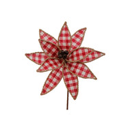 "10"" Jingle Bell Poinsettia Set of 2"
