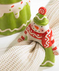 Snowman Napkin Ring - Set of 4
