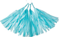Ice 12 Inch Paper Tassels, Set of 8