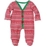 Baby Boys Fair Isle Footed One Piece (3-6 months)