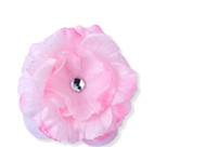 Pink Flower Childs Hair Clip