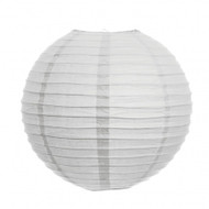 """White 14"""" Paper Lanterns - Set of 2"""