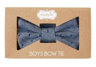 Mud Pie Dot Chambray Toddler Boys Bow Tie
