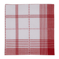 Red Radish Plaid Napkins - Set of 4