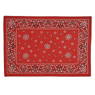 DII Red Bandana Print Placemat - Set of 4