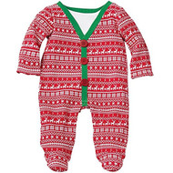 Baby Boys Fair Isle Footed One Piece (0-3 months)