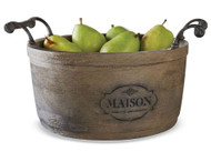 Mud Pie French Country Maison Wood Bowl