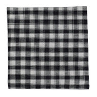 Black French Check Napkins - Set of 4