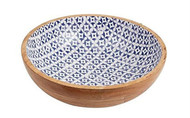 Bungalow Large Wooden Enamel Bowl