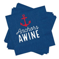 Anchors Awine Paper Cocktail Napkin