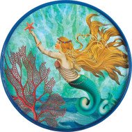 "Mermaid 18"" Round Tray"