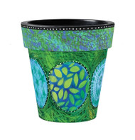 "Green & Blue Medley 12"" Planter"
