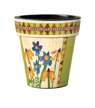 "Black Eyed Susan 12"" Art Pot Planter"