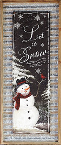 Let It Snow Wall Print
