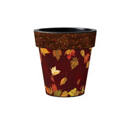 "Dancing Leaves 12"" Art Pot Planter"