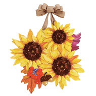 Sunflower Splendor Door Decoration