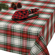 "Holiday Plaid Tablecloth 60"" x 104"""
