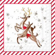 Reindeer Paper Cocktail Napkin