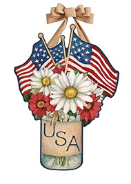 USA Mason Jar Door Decoration