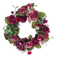 22 Inch Cabbage and Rose Wreath