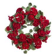 24 Inch Geranium Wreath