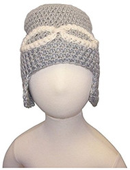 Baby Boy Handmade Aviator Crocheted Hat