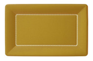 Ideal Home Range 8 Count Cafe Dinner Plates, 12 inch Gold Zing
