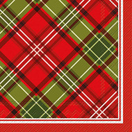 Plaid Paper Cocktail Napkin