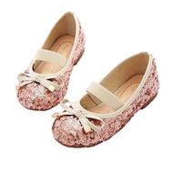 Little Girls Sequin Ballet Flats (Pink, 1-1/2)