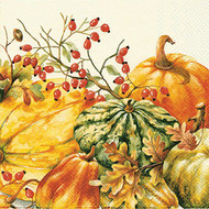 Pumpkins and Gourds Luncheon Paper Napkins