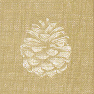 Francoise Paviot Pinecone Gold Paper Cocktail Napkins