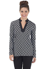 Mud Pie Black Fan Sandy Sun Shirt (Large)