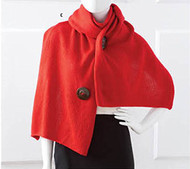 Convertible Red Shrug with Button