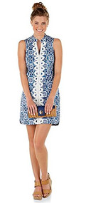 Mia Blue Embroidered Dress