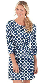 Mud Pie Courtney Navy Clover Dress (Medium)