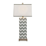 Chandler Grey Chevron Lamp